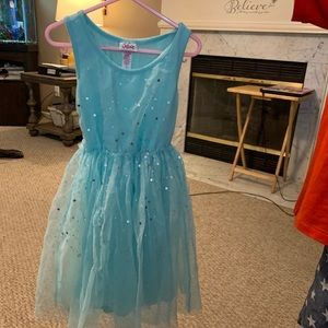 Pretty mint Justice brand size 6 sequined dress